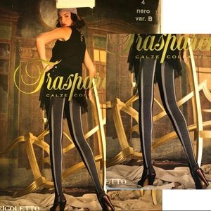 Transparenze Pantyhose made in Italy Black Gray